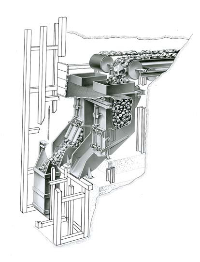 Figure 3 An example of a conveyor assisted ore transportation system into the skip.png
