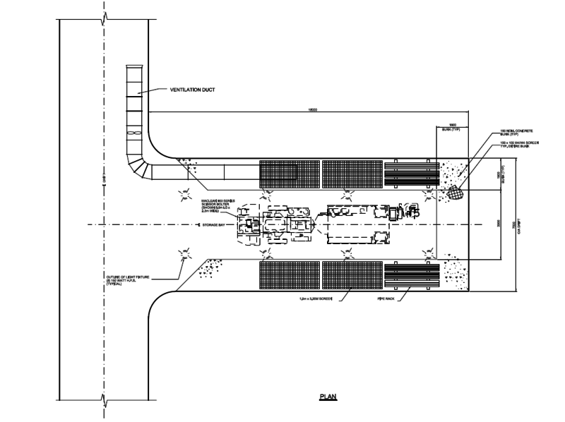 Figure 1, Typical underground storage facility layout (Morin,2015)